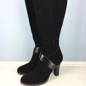Chaps Ralph Lauren Black Suede 6.5 High Heel